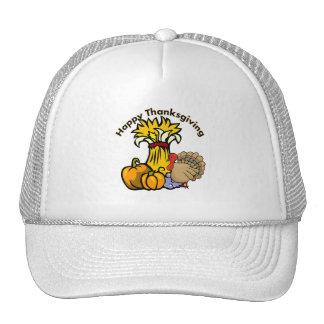Happy Thanksgiving Day Trucker Hats