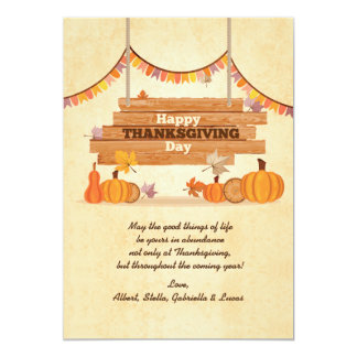 Happy Thanksgiving Day Holiday Card 13 Cm X 18 Cm Invitation Card