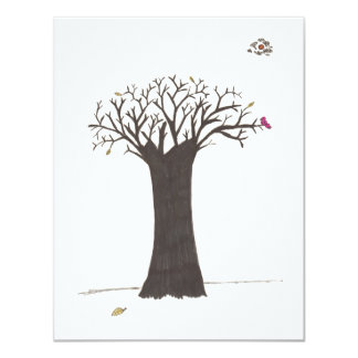 Happy Thanksgiving Day 4.25x5.5 Paper Invitation Card