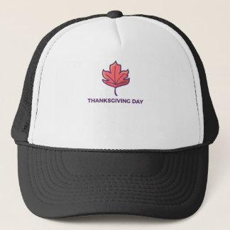 Happy Thanksgiving Day Maple Leaf Design Trucker Hat