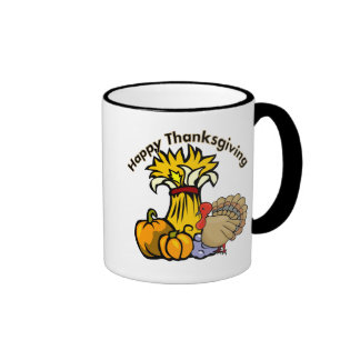 Happy Thanksgiving Day Ringer Coffee Mug
