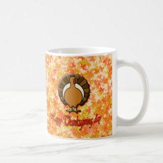 Happy Thanksgiving day mug. Basic White Mug