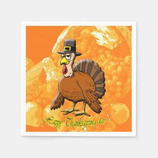 Happy Thanksgiving day paper napkins. Disposable Serviette