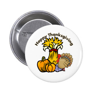 Happy Thanksgiving Day Pinback Buttons