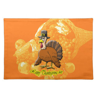 Happy Thanksgiving day placemat. Place Mats