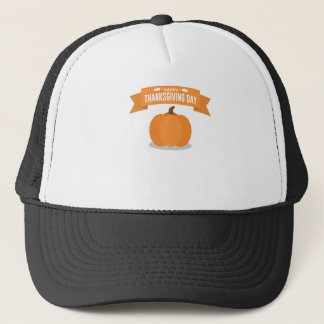 Happy Thanksgiving Day Pumpkin Design Trucker Hat
