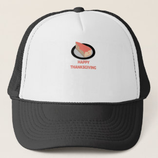 Happy Thanksgiving Day Slice Pie Cake Design Trucker Hat