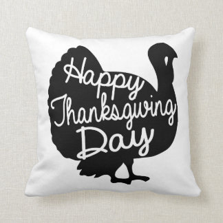 Happy Thanksgiving Day Throw Pillow
