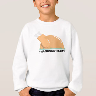 Happy Thanksgiving Day Turkey Design Sweatshirt
