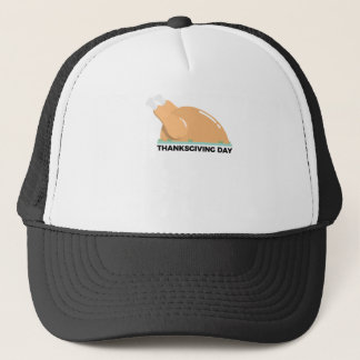 Happy Thanksgiving Day Turkey Design Trucker Hat