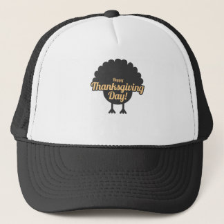 Happy Thanksgiving Day Turkey Gobble Design Trucker Hat