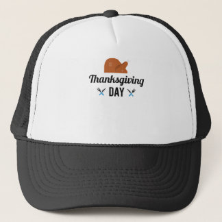 Happy Thanksgiving Day Turkey Trucker Hat