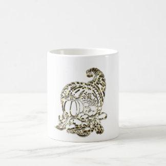 Happy Thanksgiving Elegant Golden Cornucopia Coffee Mug