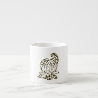 Happy Thanksgiving Elegant Golden Cornucopia Espresso Cup