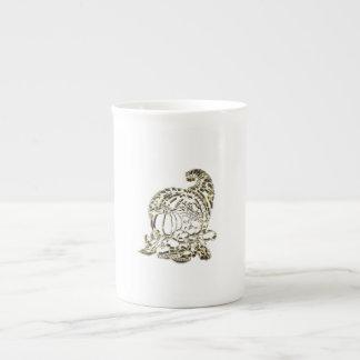 Happy Thanksgiving Elegant Golden Cornucopia Tea Cup