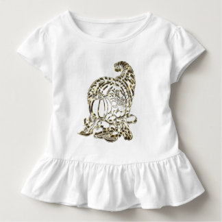 Happy Thanksgiving Elegant Golden Cornucopia Toddler T-Shirt
