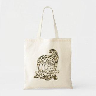 Happy Thanksgiving Elegant Golden Cornucopia Tote Bag