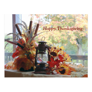 Happy Thanksgiving Fall Colors Autumn Trees Postcard