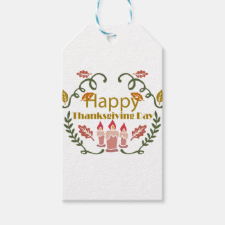 Happy Thanksgiving Fall Festival Gift Tags