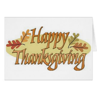 Happy Thanksgiving Fall Leaves Card