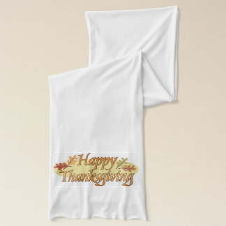 Happy Thanksgiving Fall Leaves Scarf