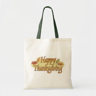 Happy Thanksgiving Fall Leaves Tote Bag