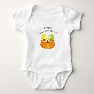 Happy Thanksgiving Fall Owl Baby Bodysuit