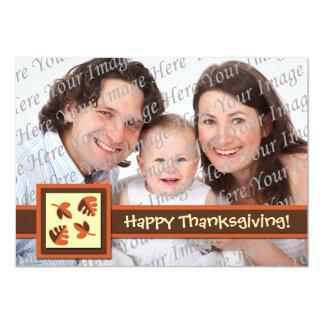 "Happy Thanksgiving Flat Photo Greeting Card 5"" X 7"" Invitation Card"