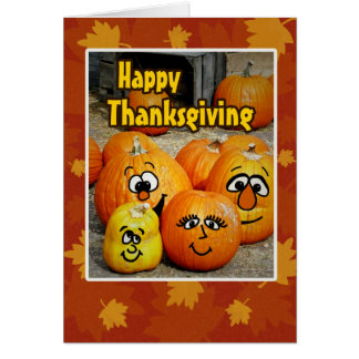 Happy Thanksgiving From All of Us-Silly Pumpkins Card