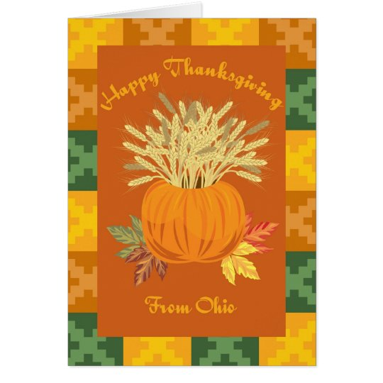 Happy Thanksgiving From Ohio Card
