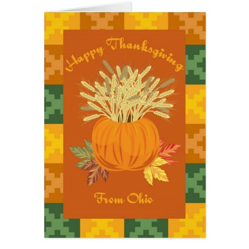 Happy Thanksgiving From Ohio Greeting Card