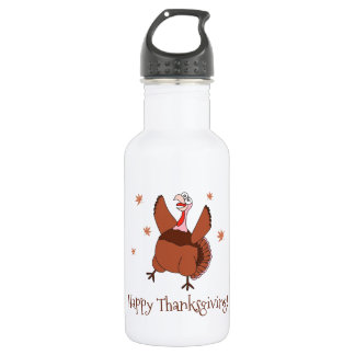 Happy Thanksgiving Funny Turkey 532 Ml Water Bottle