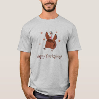 Happy Thanksgiving Funny Turkey T-Shirt