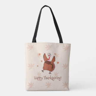 Happy Thanksgiving Funny Turkey Tote Bag