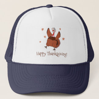 Happy Thanksgiving Funny Turkey Trucker Hat
