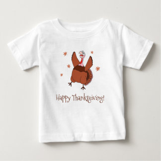 Happy Thanksgiving Funny Turkey Unisex Baby T-Shirt