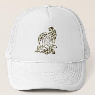 Happy Thanksgiving Golden Cornucopia Trucker Hat