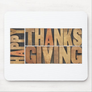 Happy Thanksgiving - Greetings Or Wishes Mouse Pad