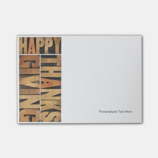 Happy Thanksgiving - Greetings Or Wishes Post-it® Notes