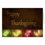 Happy Thanksgiving Grunge Leaves - Greeting Card