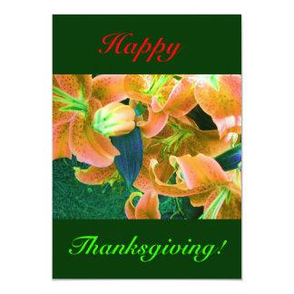 "Happy Thanksgiving I 5"" X 7"" Invitation Card"