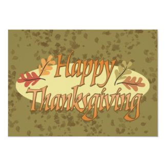 "Happy Thanksgiving Invitation 5"" X 7"" Invitation Card"