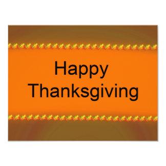 Happy Thanksgiving 4.25x5.5 Paper Invitation Card
