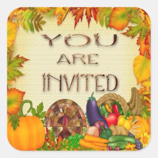 Happy Thanksgiving Invitation Envelope Seals