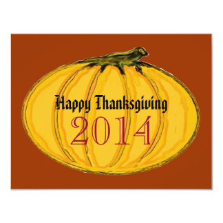 Happy Thanksgiving jGibney The MUSEUM Zazzle Gifts 4.25x5.5 Paper Invitation Card