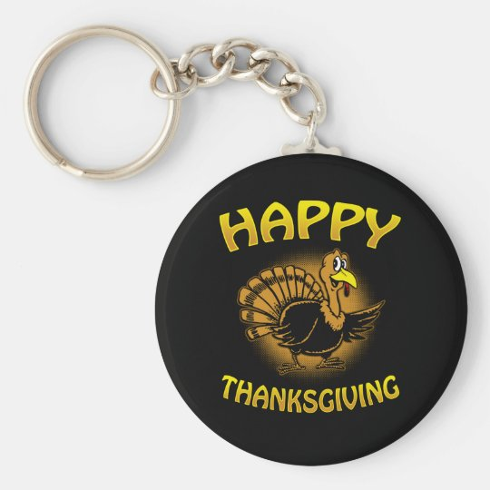 Happy Thanksgiving Key Ring