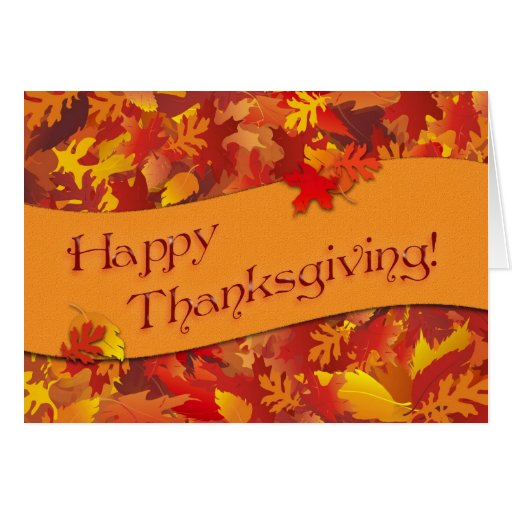 Happy Thanksgiving Note Card