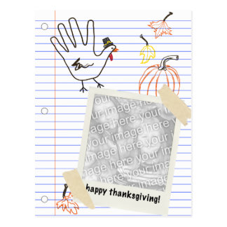 happy thanksgiving! notebook sketches postcard