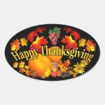 Happy Thanksgiving ~ Oval Sticker