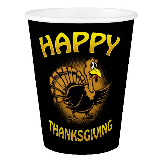 Happy Thanksgiving Paper Cup